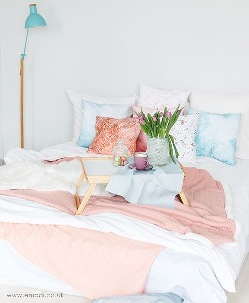 Blush pink bedding. High quality handmade cushions for your bedroom. Online shop. Bedroom ideas, bedroom interior, pastels, pinks, pink home decor. gi…