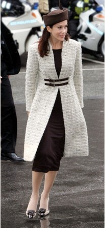 Princess Mary of Denmark - minus the hat, this is a great outfit for formal occasions