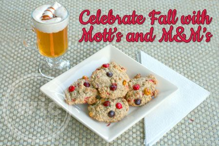 Celebrating Fall with M&M's and Motts - Oatmeal M&M's Fall Co...