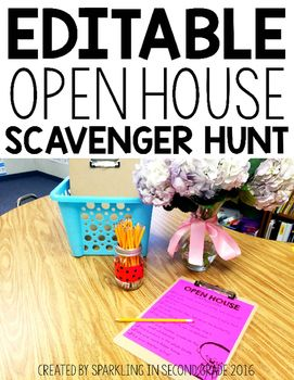 Open House is a fun time to celebrate all that your students have done this year! Don't let them skip over anything important and forget how hard they worked. These scavenger hunts are perfect for making a purposeful Open House. Send your students around your classroom to show off the best of the best!These are editable to suit the needs of your students.