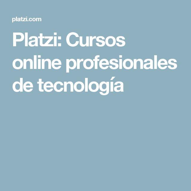 Platzi: Cursos online profesionales de tecnología