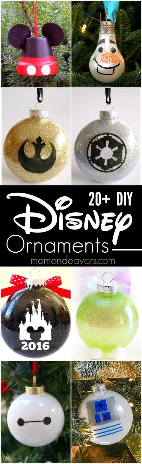 20+ Best DIY Disney Ornaments - add some Disney magic to your Christmas tree with these fun Disney ornament crafts