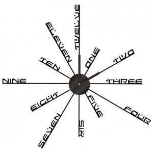 Reloj de pared adhesivo con letras