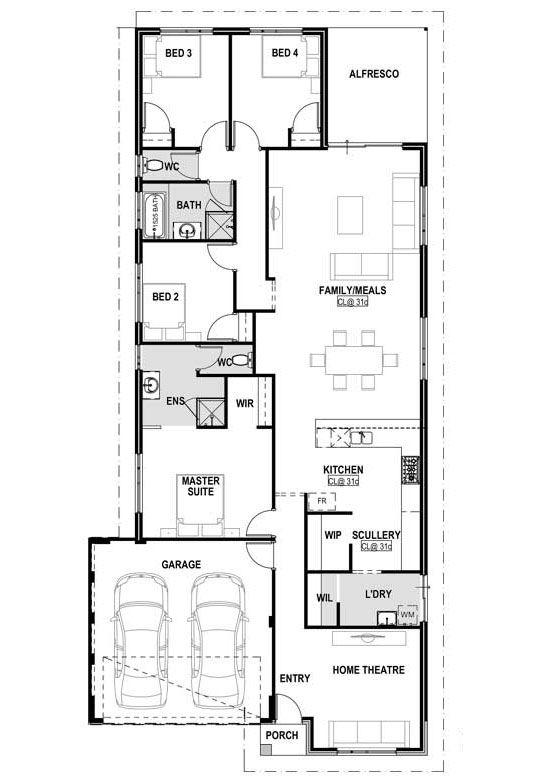 My Oxford Home Design Plan Narrow Lot House Design Perth Home