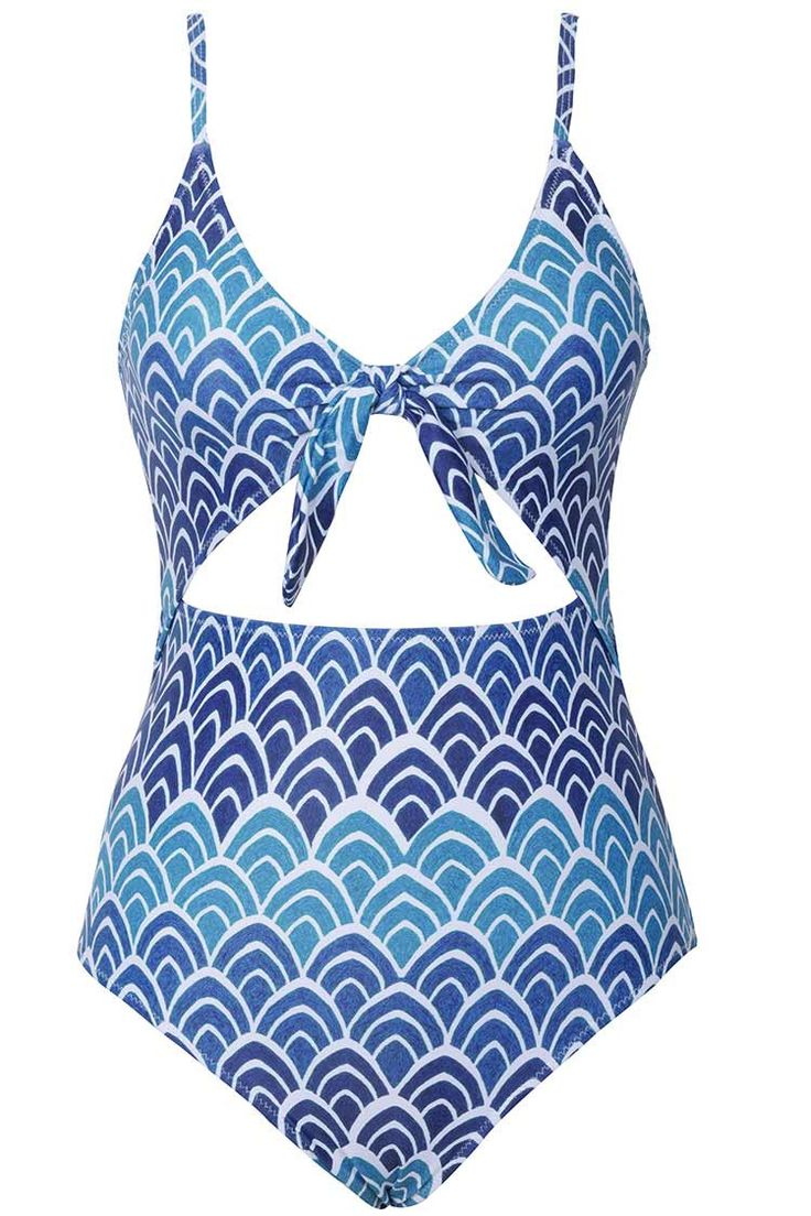 Cupshe Seasons Of Blue One-Piece Swimsuit