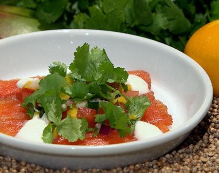 saumon en gravlax la vodka kampai cuisine. Black Bedroom Furniture Sets. Home Design Ideas