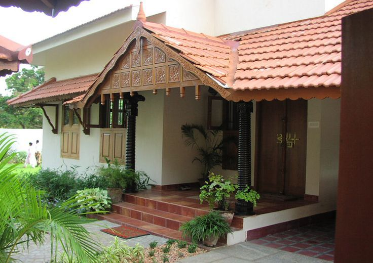 South indian traditional house plans google search for Home exterior design india residence houses