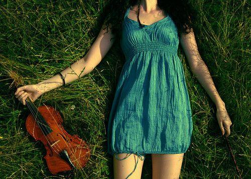 grass violin outdoor