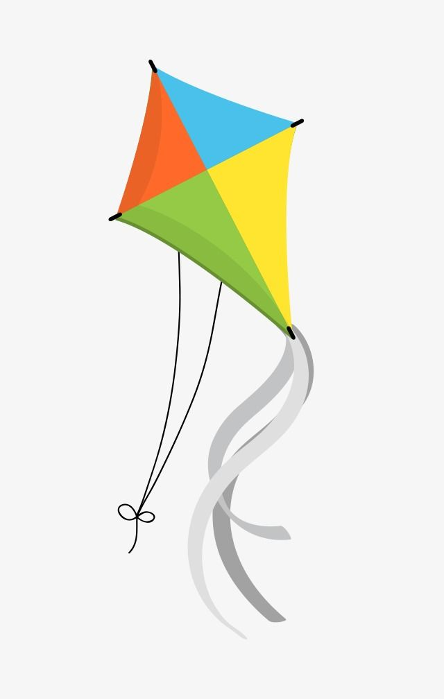 Cartoon Kite Cartoon Clipart Fly A Kite Color Kite Png