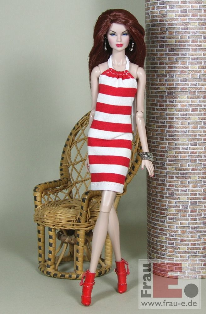 "https://flic.kr/p/HSQtpr | Fashion Doll Dress ""to the beach"" - red/white 