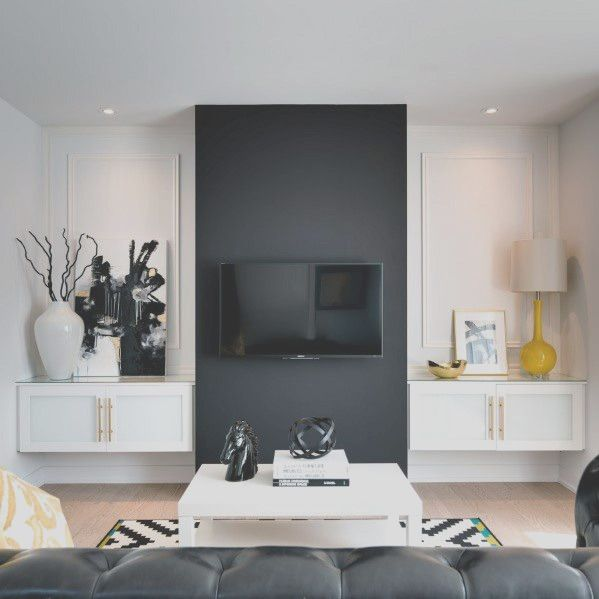 23 Best Tv Wall Designs And Ideas In 2020 Living Room Tv Wall Black Living Room Accent Walls In Living Room #tv #wall #decoration #for #living #room