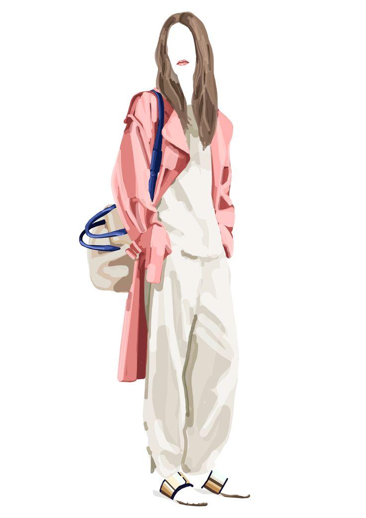 Fashion Illustration – Digital illustration – 2013. Mathilde Crétier.