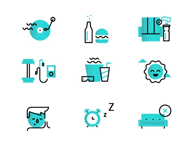 10 Steps Here are some icons that are part of an a…