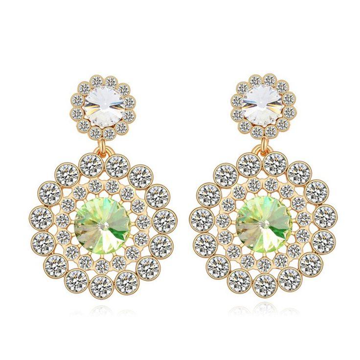 Austrian Crystal Drop Earrings - Fashion Beauty