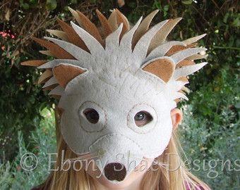Hedgehog mask PATTERN/ Australian Echidna mask PATTERNS. Digital Sewing Pattern- Kids Hedgehog costume