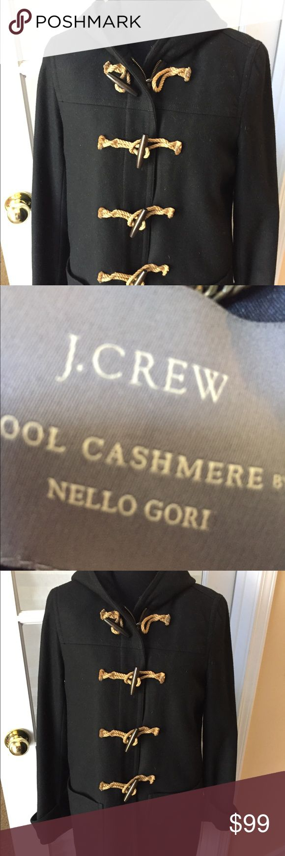 J crew wool cashmere Black pea coat by nello gori Size 8 and in fabulous condition J. Crew Jackets & Coats Pea Coats