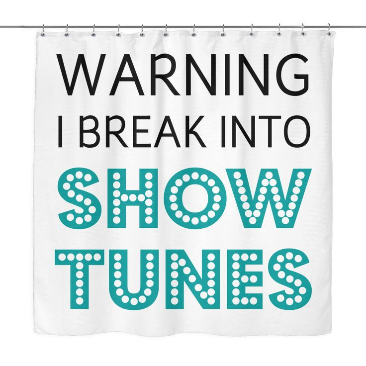 Showtunes shower curtains now in the swag shop! #theatrekid #musicals