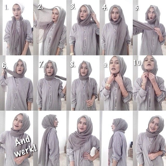 Dina Tokio Shows Us How To Wrap A Hijab Hijab Tutorial Pinterest Simple Hijab Tutorial