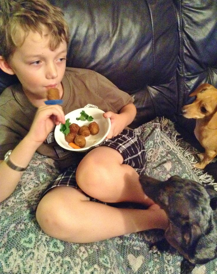 I INVENTED Meatballs on a Ring 08/30/14 Boys & pups approve! #meatballring #meatballpop