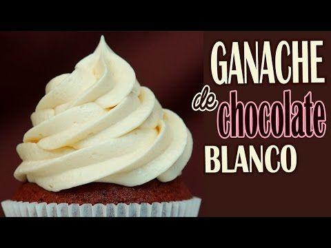 Ganache de chocolate blanco para tartas o cupcakes - YouTube