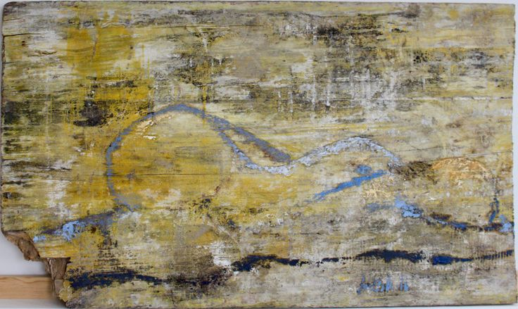 Resting woman, Old construction board, 54x83, mixed. jusoik.com