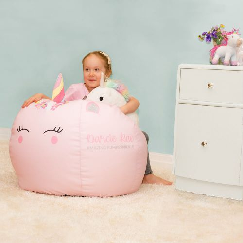 Enjoyable Medium Unicorn Beanbag With 3D Horn In Baby Pink Kids Fun Beatyapartments Chair Design Images Beatyapartmentscom