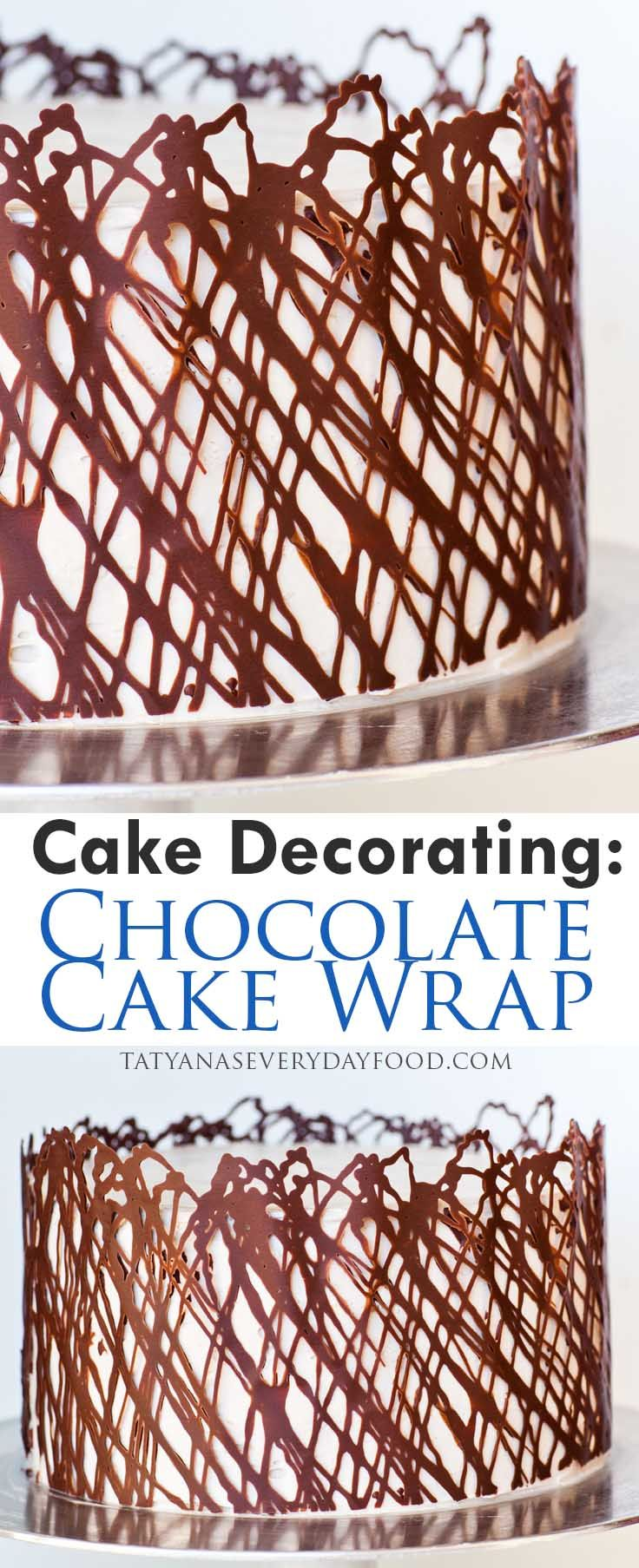 13 Beautifully Decorated Cakes - Cake Decorating - Chocolate Cake Wrap