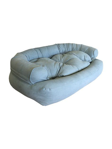 Snoozer Pet Products Luxury Overstuffed Dog Cat Sofa Aqua Small At Chewy