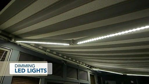 sunsetter awnings lights | SunSetter Dimming LED Awning Lights - image 2 from the video