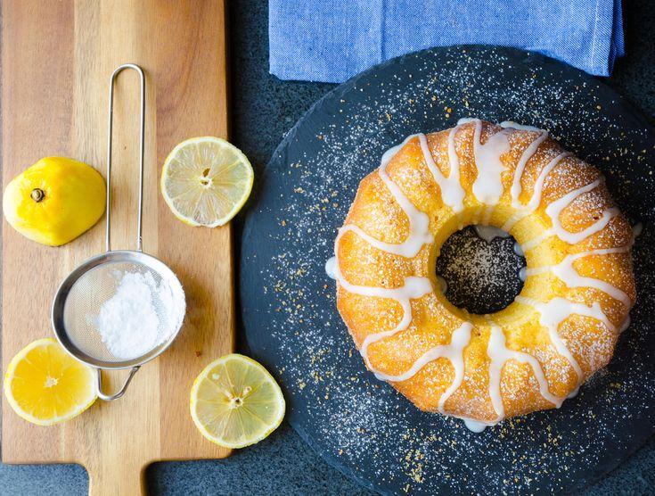 Lemon cake with icing