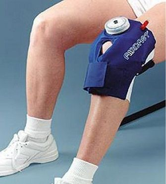 AIRCAST KNEE CRYO/CUFF (SELF-CONTAINED) - It provides  one hour of ice and compression for treatment of all knee injuries, e.g. Medial knee ligament sprains, Cartilage tears, and ACL injuries; and following knee arthroscopy and knee surgery.