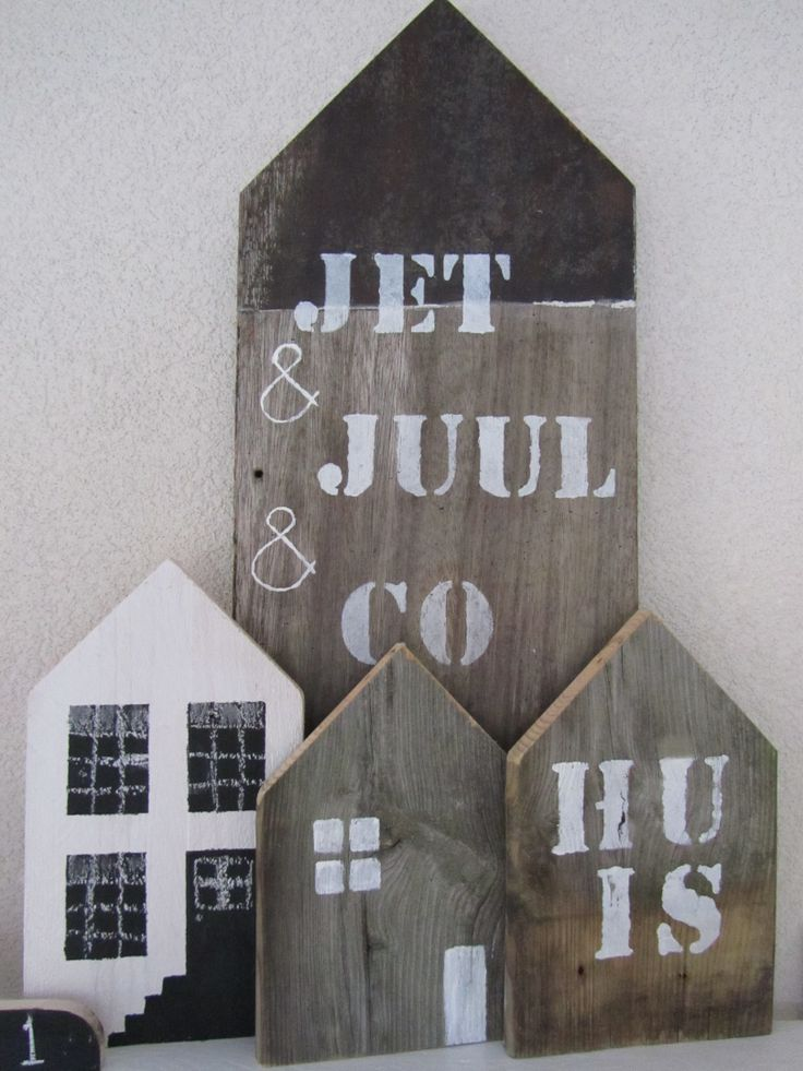 Houten huisjes van Jet&Juul&Co