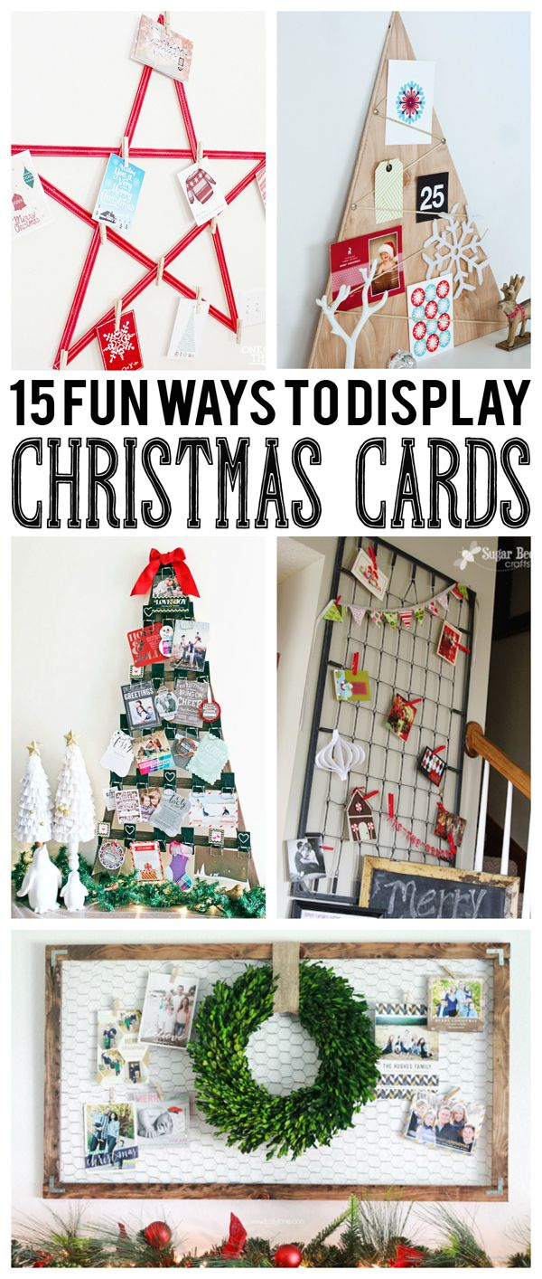 152 best images about holiday christmas card displays on - Christmas card display ideas ...