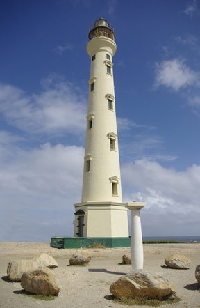 The California Lighthouse at the northern end of Aruba