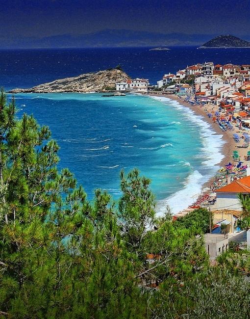 Kokkari, Samos Island in Greece