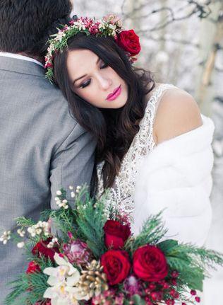 40 цветочных венков для зимнего образа невесты - The-wedding.ru