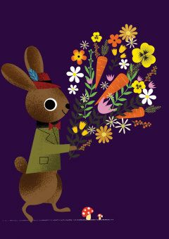 Roger la Borde | Spring Bunny Greeting Card by Daniel Roode