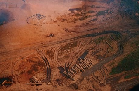 National Geographic: Aerial view of a logging operation. by National Geographic on artflakes.com as poster or art print $16.63