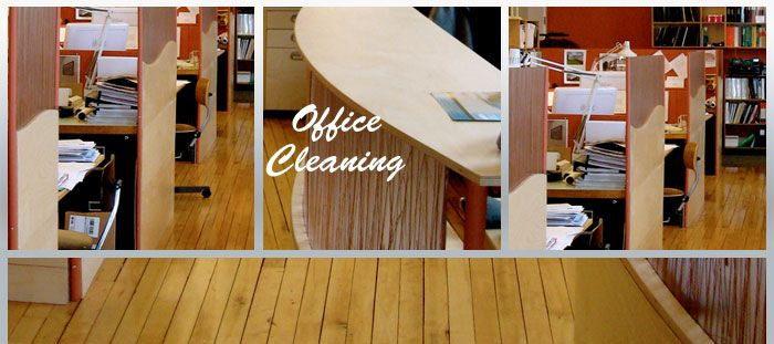 We provide Office Cleaning Services, such as vacuuming, mopping, sweeping, cleaning and dusting surfaces, power-wash floors and clean the carpets. Please contact us or visit our website for more information.
