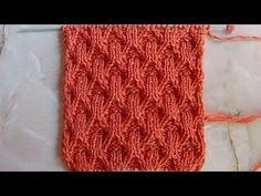 Рельефный объемный узор Вязание спицами Видеоуроки6 - YouTube