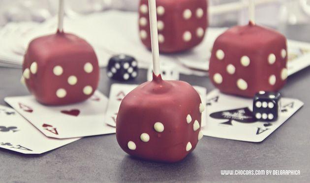 póquer cake pops fresa