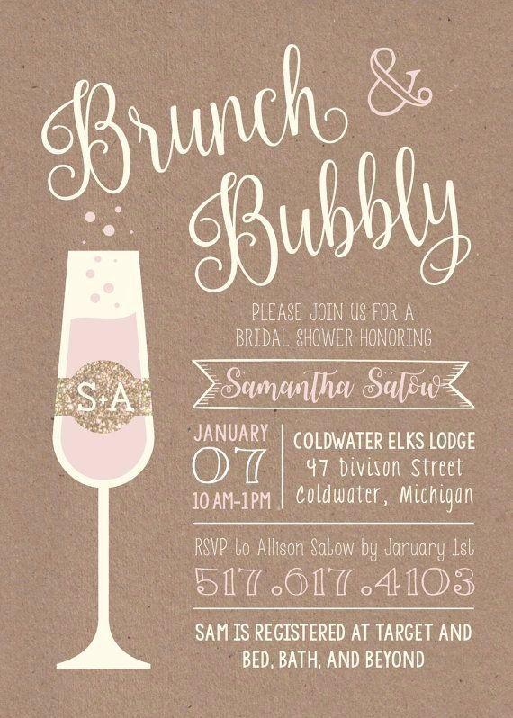 Brunch Invitation Template Free Best Of Brunch Bubbly Printable Bridal Shower Invi Bridal Shower Rustic Bridal Shower Brunch Invitations Bubbly Bridal Shower