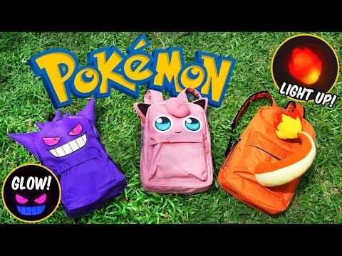 DIY Pokemon Backpack! FREE PATTERN | DIY School Supplies | Gengar, Jigglypuff, Charmander - YouTube