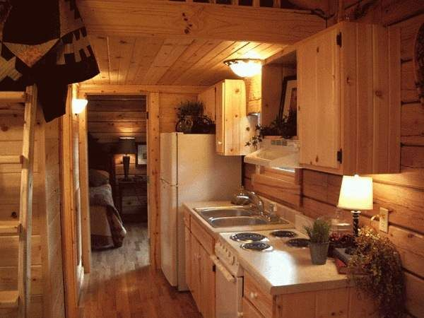 1000 images about simplify on pinterest one bedroom for Small log cabin kitchens