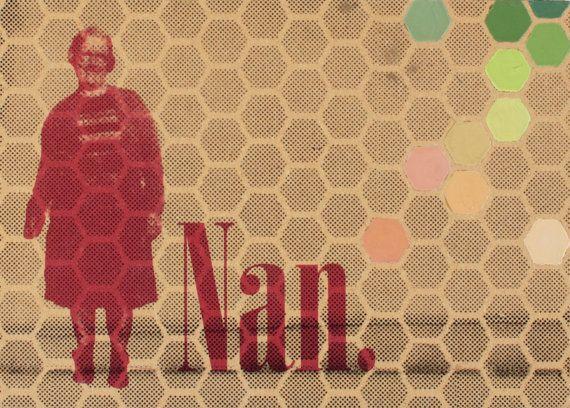 Daughter of Jane Screenprint with Geometric Pattern by EyeJoyArt