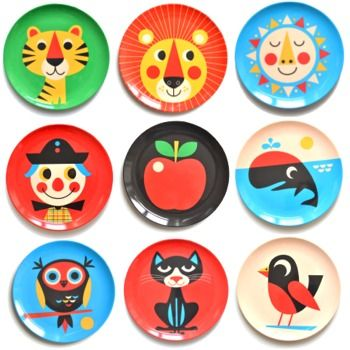 cute plates for kids!Melamine Plates, Ingela Arrhenius, Eclectic Dinnerware, Stuff, For Kids, Illustration, Arrhenius Melamine, Products, Omm Design