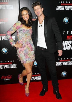 """Paula Patton and Robin Thicke interview from Essence (""""Robin Thicke Talkes Black Women, Interracial Dating, Pleasing Paula, and Loving Music""""). Most adorable mixed couple."""