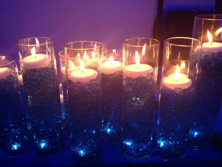 Candle Lighting Ceremony Set-Up. Underwater light at the base growing blue gel & 40 best Bar u0026 Bat Mitzvah Candle Lighting Ideas pinned by Cutie ... azcodes.com