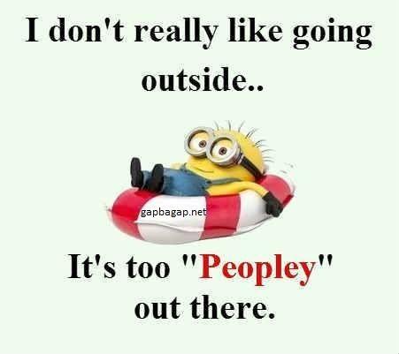 Funny Minion Joke About Outside vs People