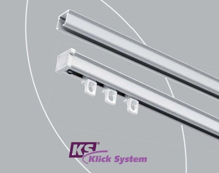 Karnisz sufitowy KS to nowoczesny i prosty system montażu karniszy. http://www.gamastyl.pl/oferta/karnisze-sufitowe-ks